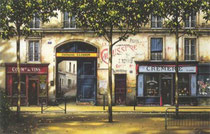 La Cremerie  Ltd Ed. Serigraph  26 x 40 in