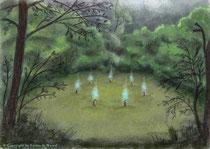 Die magische Kreuzung in den altern Wäldern Ornanungs