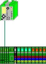 Bild 13.32 Interbus, RFC, Submaster für Linearachse