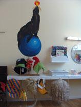 Wandgestaltung mit Robbe in Kinderzimmer