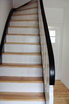 Reihenhaus Hufeisensiedlung - Farbgestaltung Treppe