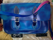 School Satchell, fits a4, inside matches the pink inside of the strap