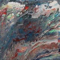 "Brigitte Hoppstock: ""2""<br>Pouring, Acryl auf Leinwand<br>50 x 60 cm<br>380,-€<br>Tel: 08165 4956, Mobil: 0176 45670878"