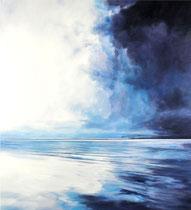 "Anna Wesely: ""Ozean""<br>Öl auf Leinwand – 110 × 100 cm<br>2.600,-€ (mit Rahmen)<br>Tel: 08092 83803, Mobil: 0162 9782373, e-mail: anna.wesely@t-online.de"
