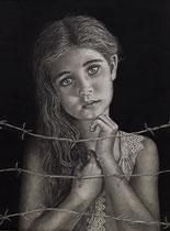 "Vilma Sousa-Dimpfl: ""Hoffnung""<br>Kohlezeichnung – 50 × 40 cm<br>700,-€<br>e-mail: vilma-erhard-dimpfl@t-online.de, Tel: 15750055391"