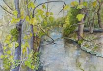 "Elisabeth Sorger: ""Romantische Würmauen""<br>Aquarell – 35 × 50 cm<br>450,-€<br>Tel: 089 711300"