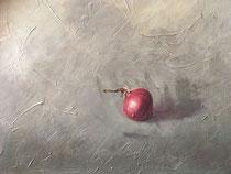 """Ruth Moch: """"Zwiebel""""<br>Öl auf Leinwand – 30 × 50 cm<br>350,-€<br>e-mail: ruth.moch@gmx.de, Tel: 089 9570183"""