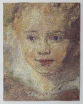 "Marta Fischer: ""Kind""<br>Öl auf Papier – 25 × 22,5 cm<br>800,-€<br>e-mail: martafi@web.de"