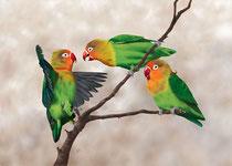 """Ricarda Blank: """"Die Unzertrennlichen""""<br>Digital Painting, Pigmentdruck auf Büttenpapier<br>28,5 × 40 cm<br>160,-€<br>e-mail: kontakt@ricarda-blank.de"""