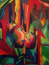 """Lothar Rafalski: """"Cocooning""""<br>Acryl auf Leinwand – 100 × 70 cm<br>480,-€<br>e-mail: L.rafalski@gmx.de"""