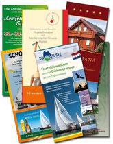 Folder und Flyer, LangDin, verschiedene Auftraggeber