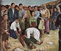 金鐘世 「虐殺」(227×198cm、1960年)