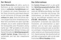 Angaben zu Person und Unternehmen von David Rubenstein, FAS, 20.10.2013