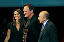 Aurélie FILIPPETTI, Quentin TARANTINO et  Gérard COLLOMB - Festival Lumière 2013 - Photo © Anik COUBLE
