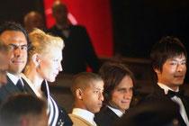 Alejandro Gonzalez INARRITU et les acteurs de Babel  - 2006 / Photo :  Anik Couble