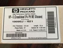 GC-Säule HP 5 Crosslinked 5 % PH ME Siloxane, HP-Nr. 19095J-621