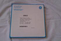 GE Whatman Filterpapier 589 2 Lot Nr. G28909136 Inhalt 100 Stk.
