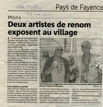premier vernissage en juin