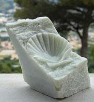 Compostel, sculpture en stéatite. Prix: 350 euros, transport non compris.