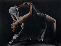 Tango noir fusain et pastels: Arches 300gr, 46 x 61 cm