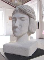 Bauhaus, sculpture en siporex. Prix: 70 euros, transport non compris.