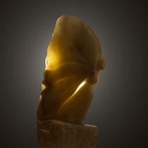 Chrysalide, sculpture en stéatite. Prix: 800 euros, transport non compris.