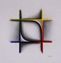 Quadri fusain et pastels 30 cm x 30 cm