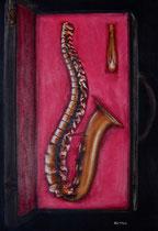 Le sax-vertébral pastels: Arches, 60 x 40 cm
