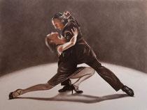 Tango sépia fusain et pastels: Arches 300gr, 46 x 61 cm