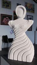 La Femme, sculpture en siporex. Prix: 70 euros, transport non compris.