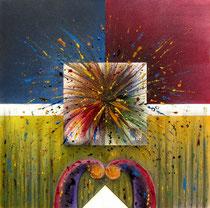 Artifice aquarelle et fusain