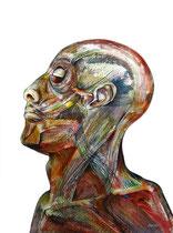 Autoportrait Aquarelle, & Fusain: Arches 300gr, 46 x 61 cm
