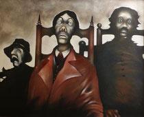 Les Assis, 1981 (huile sur toile, 143 x 172 cm, coll. part. DC)