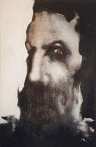 Le prophète à l'oeil rouge, env. 1980, (huile sur toile, 63 x 100 cm, coll. part. CN)