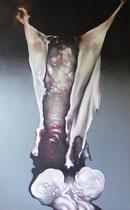 Le boeuf, 1985 (huile sur toile, 123  x 200 cm, coll. part. GR)