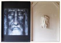 Le suaire de Turin (diptyque) 1985 (huile sur toile, huile sur bois, 85 x 122 cm, coll. part. GR)