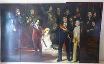 La ronde de nuit, 1977 (huile sur bois, Musée des Beaux-Arts de Nantes), oeuvre collective