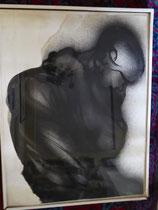 La souffrance, env. 1980, (gouache, 50 x 65 cm, coll. part. BA)