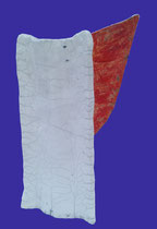 SAS_14-26 Feuer ENGEL, Keramik, Rakubrand (h = 38 cm, d = 9-23 cm )