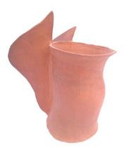 "SAS_14-28  ""Kleiner dicker ENGEL"" , polierte Keramik ( h = 31 cm , d = 18-27 cm )"
