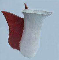 "SAS_14-27 ""tanzender ENGEL"" , Keramik, Kristallglasur  ( h = 35 cm d = 17-27 cm )"