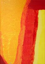 SAS_14-10  orangener Bogen  (100 x 70 cm)