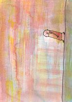 NACH OBEN, OBEN, NACH UNTEN ODER UNTEN (MÄNNLICH) III.6  29X20 cm 165,-€