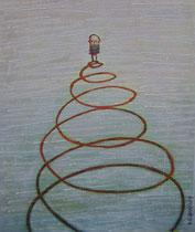 SPIRALE, Acryl 80X68 cm 1.650,-€