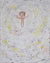 GEKREUZIGTER (BAUMSCHMUCK), Acryl  100X80 cm 1.900,-€