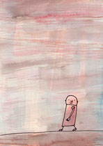 NACH OBEN, OBEN, NACH UNTEN ODER UNTEN (MÄNNLICH) III.4  29X20 cm 165,-€