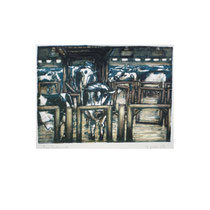 MILCHVIEHANLAGE  22X30 cm 165,-€