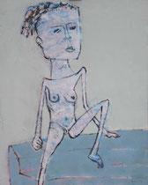 SITZENDE I, Acryl  100X80 cm 1.900,-€