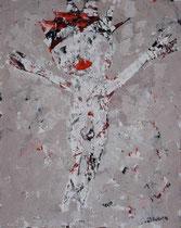 GEKREUZIGTER I, Acryl  100X80 cm 1.900,-€