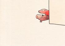 ZWEI HUNDE (AMOREROS)   14,5X20 cm 105,-€